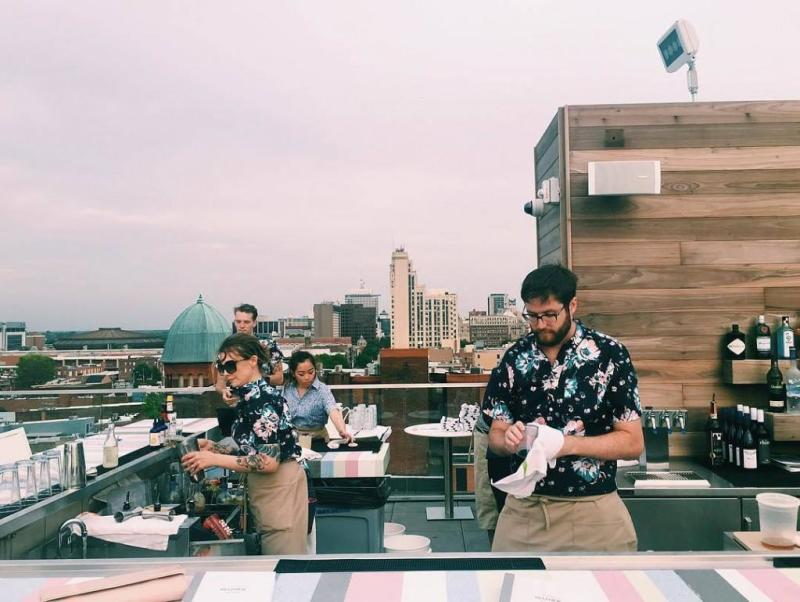 Quirk Hotel roof top bar in Richmond, VA