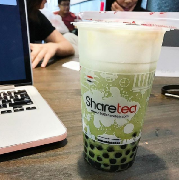 Sharetea │ Matcha Milk with Tapioca