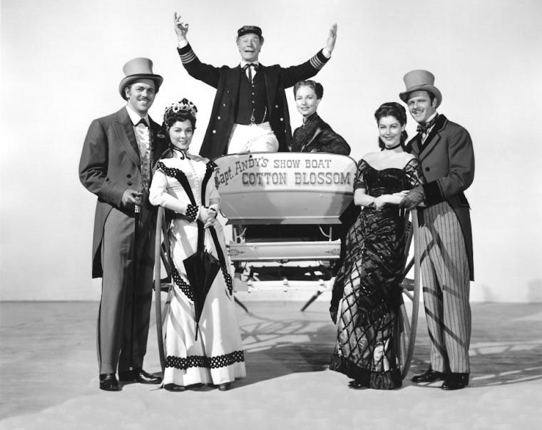 Show Boat cast starring Ava Gardner.