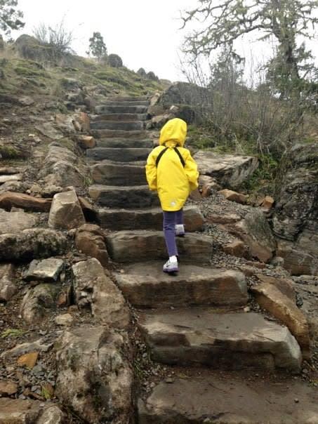 Hiking Spencer Butte in the Rain by Taj Morgan