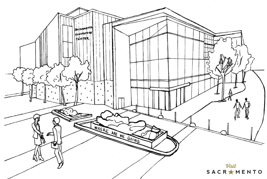 Sacramento Convention Center Coloring Page
