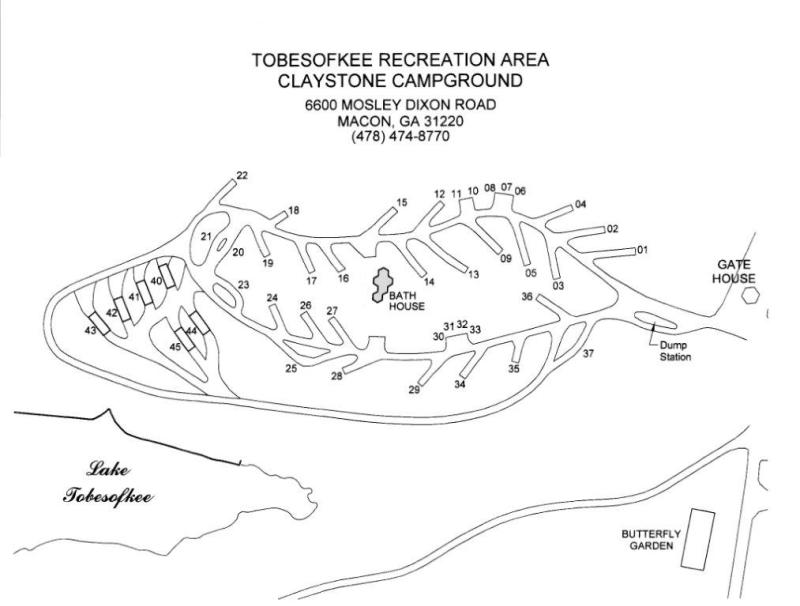 Map of Claystone Park in Macon, GA