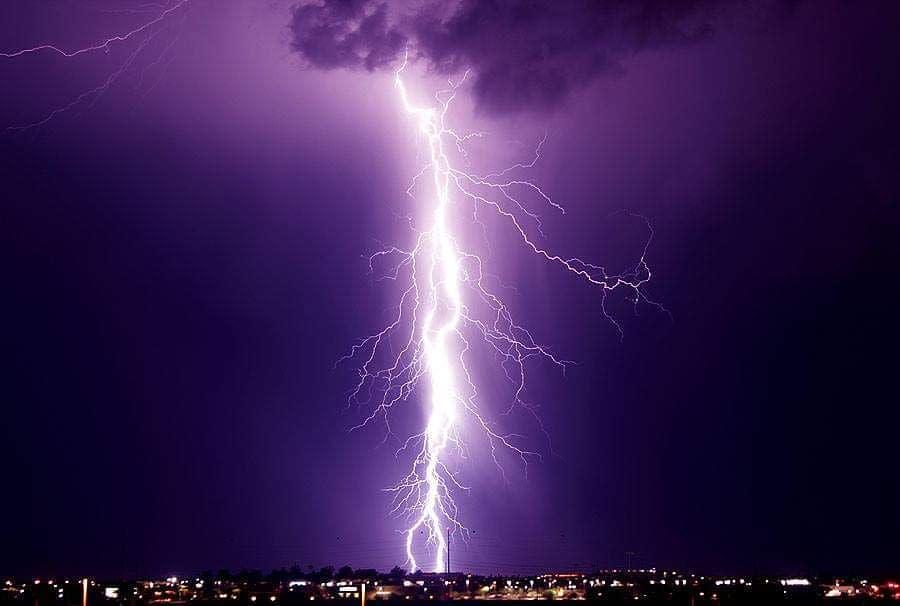 Chandler AZ Monsoon - Lightning Strike