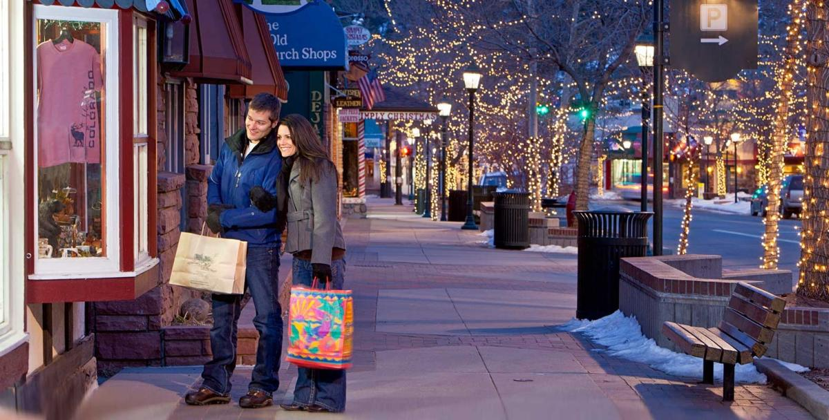 Winter Couple Shopping