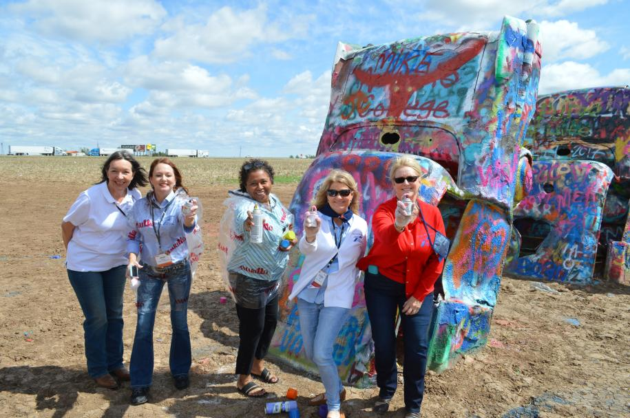 Cadillac Ranch - Group Picture