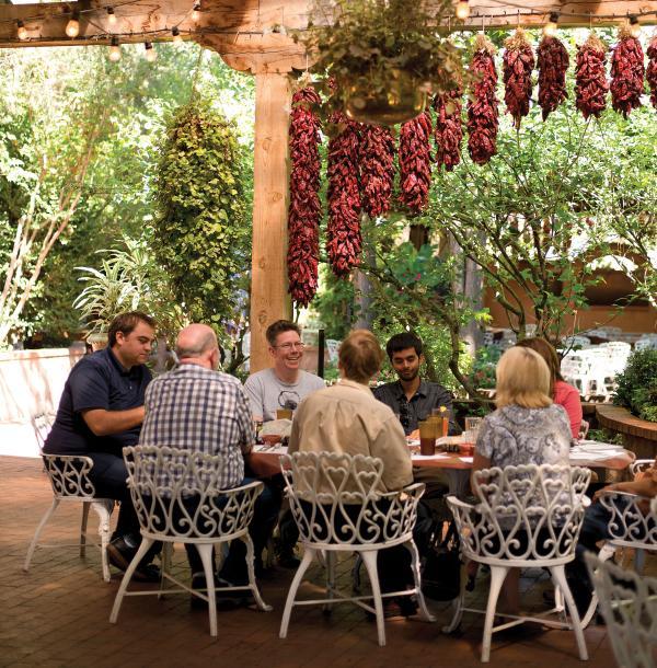The gracious patio at El Pinto in Albuquerque