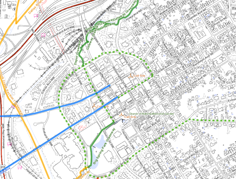 City of Huntsville Bike Map