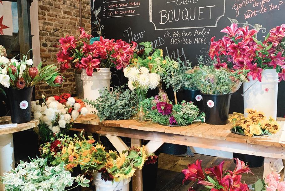 Flower Bar at The Mercantile