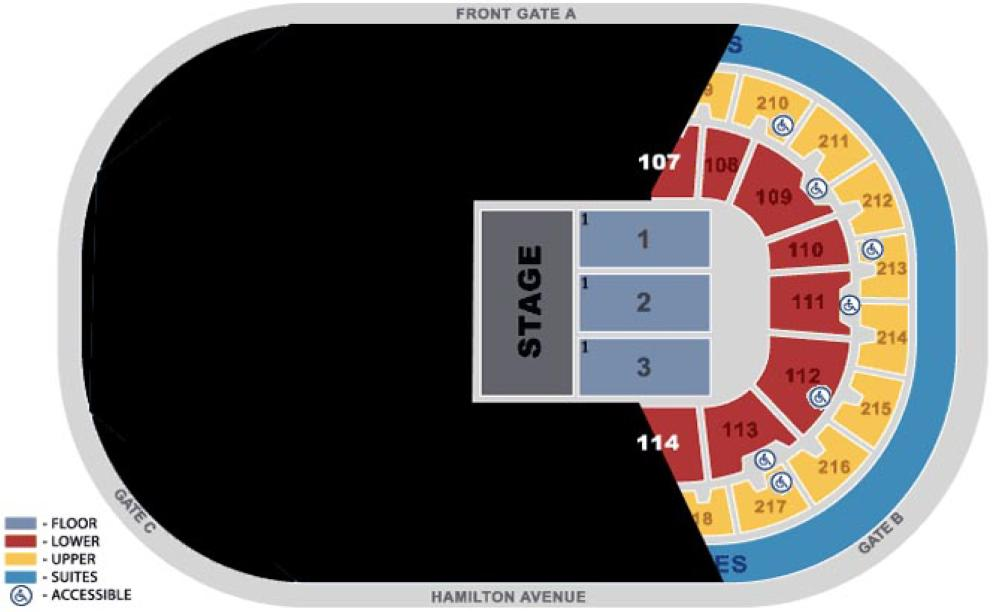 CURE Arena Seating Plan Limited Concert