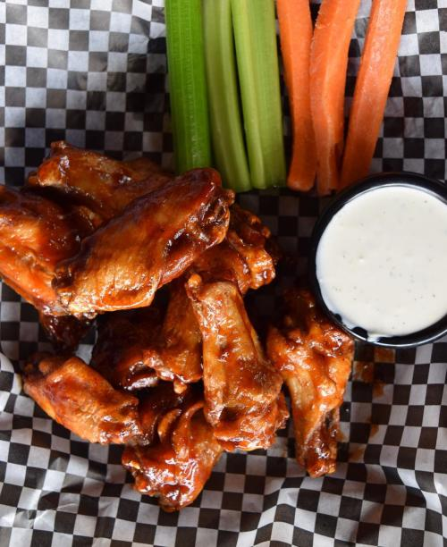 Enjoy chicken wings from Hudson Grille Wings in Sandy Springs