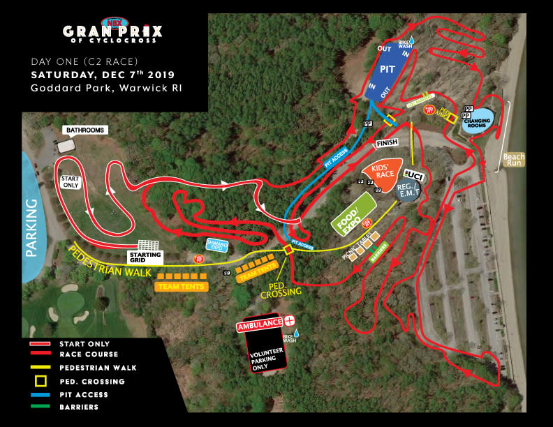 Map of the NBX Gran Prix course.