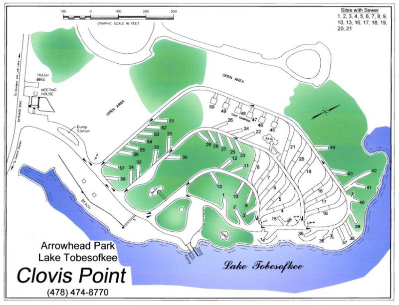 Map of Arrowhead Park in Macon, GA