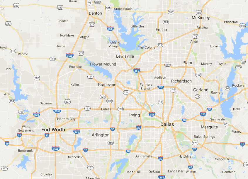 Dfw Metroplex Map Information on the Dallas/Fort Worth Metroplex of North Texas