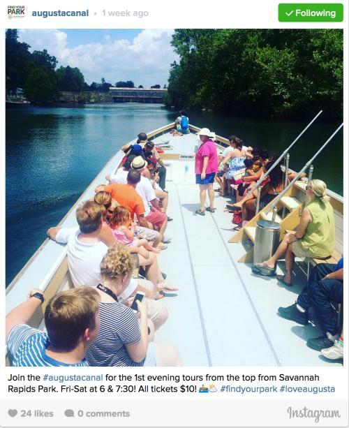 Augusta Canal Instagram
