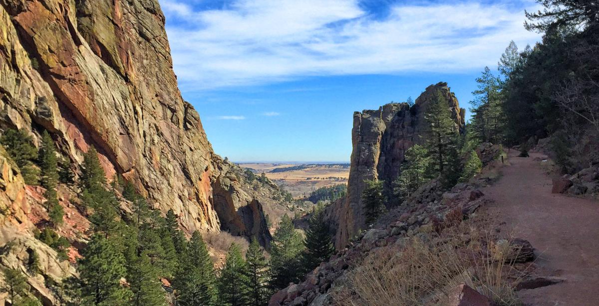 Landscape at the Eldorado Canyon State Park