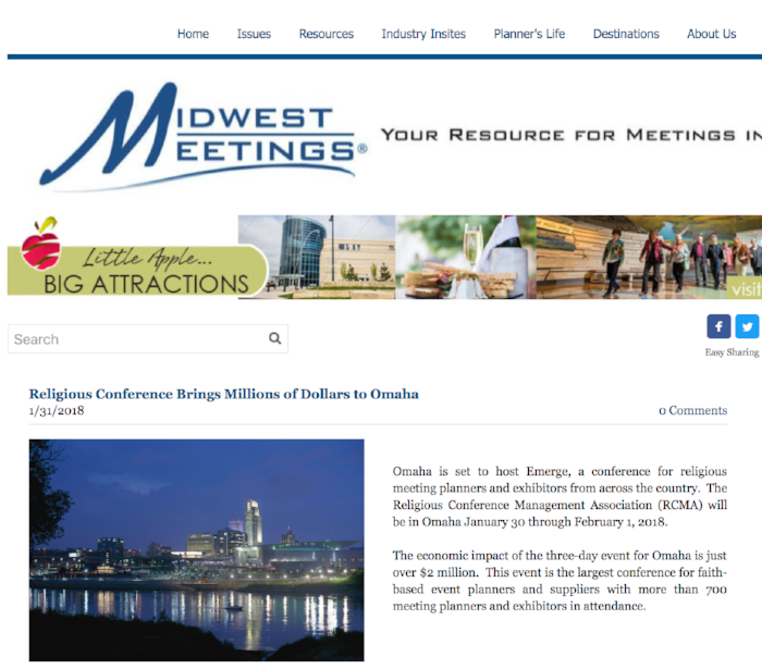 Midwest Meetings - Religious Conference Brings Millions of Dollars to Omaha