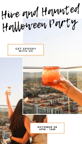 Hive and Honey Cocktails and View Halloween 2019