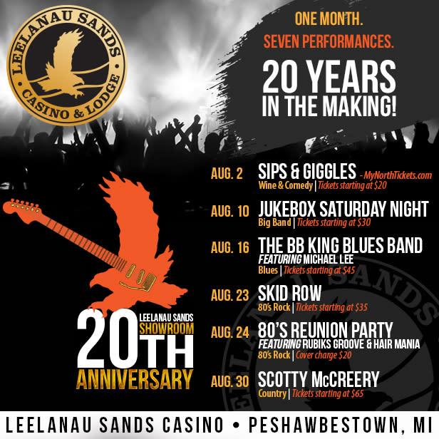 Lineup for Leelanau Sands Anniversary