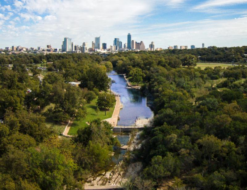 Barton Springs Pool. Credit Lars Plougmann, courtesy of RootsRated.