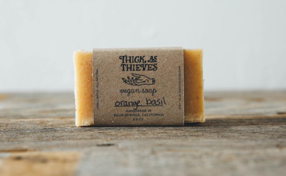Orange basil vegan soap