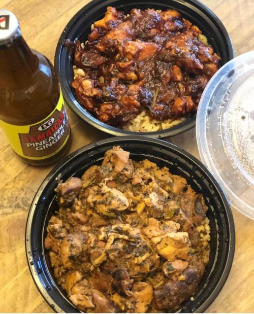 Jerk chicken & Mama's Stew are just two of the options served at the Carib Shack.