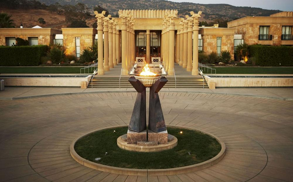 Darioush Winery blends Persian and French architecture styles to create this one-of-a-kind grand entrance.