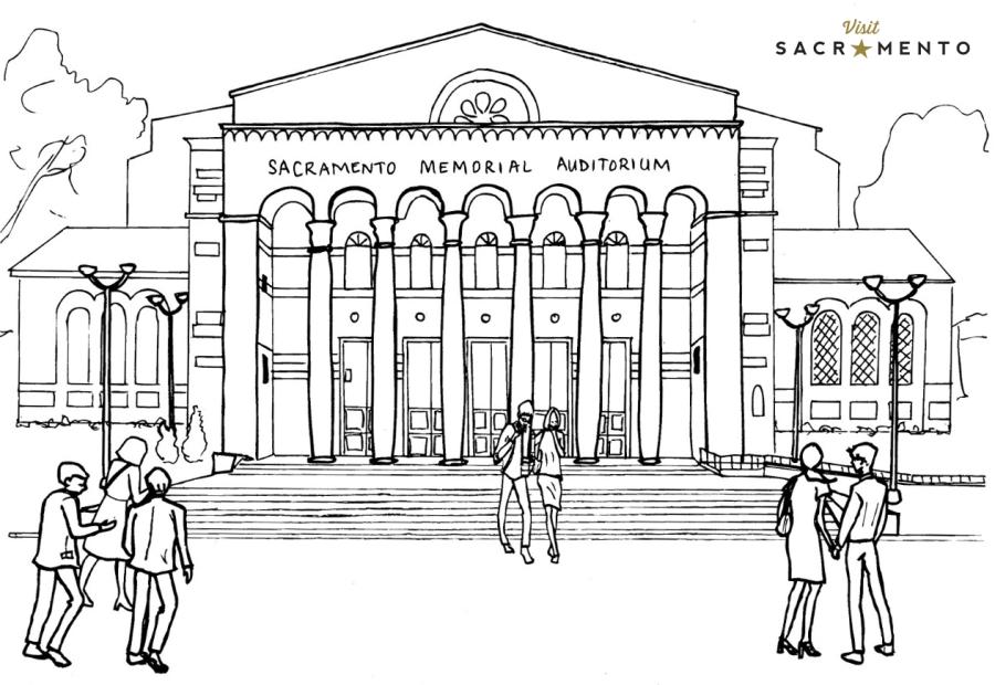 Memorial Auditorium Coloring Page