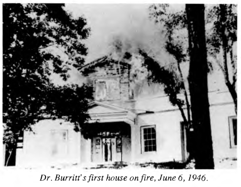 Burritt House Fire