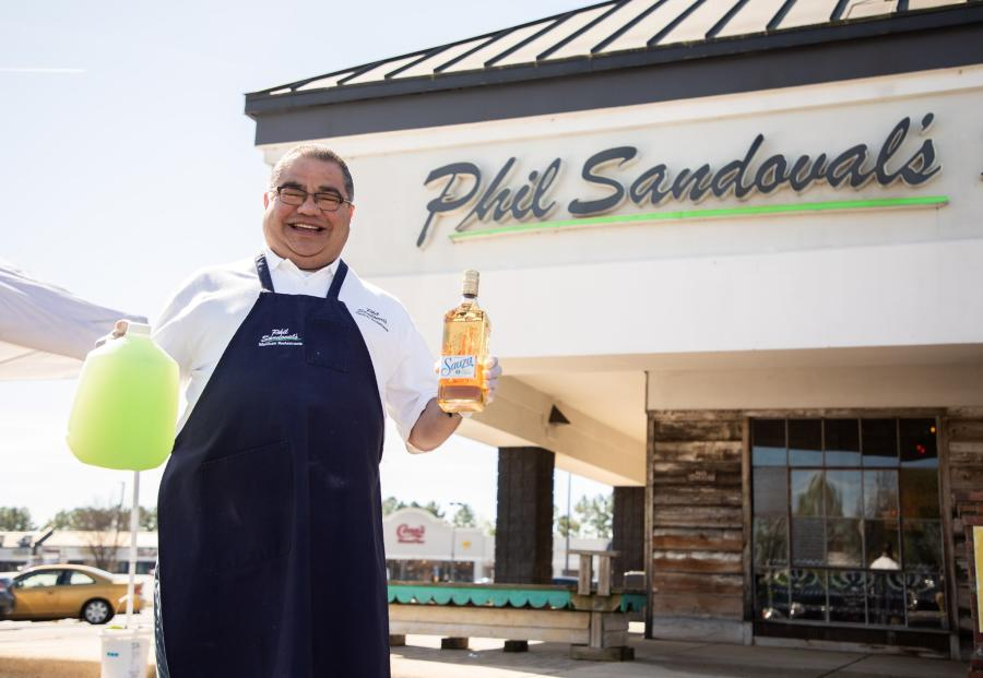 Margaritas to go at Phil Sandoval's Mexican Restaurant in Huntsville