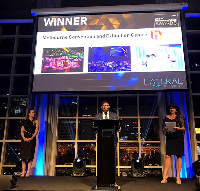 Food and beverage accolade for MCEC at Victorian MEA Awards