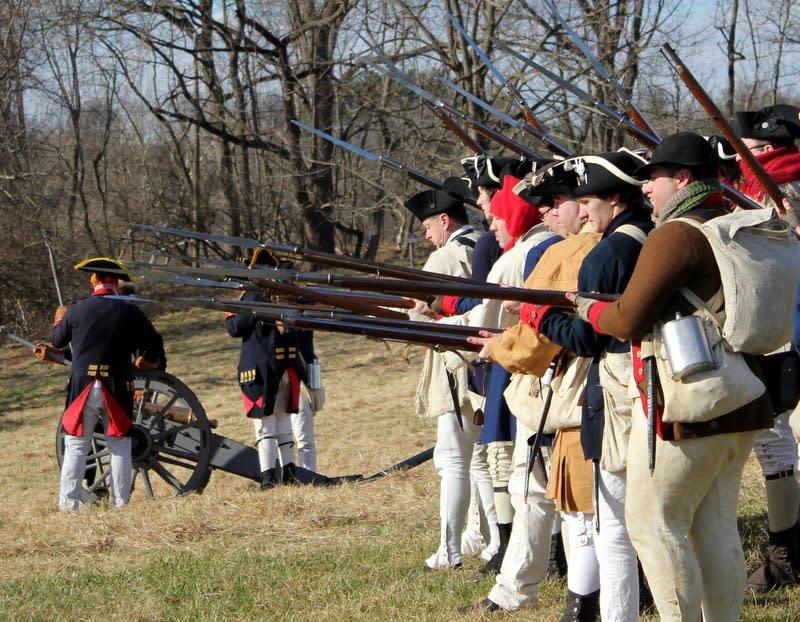 2nd PA Regmt Bayonets Musket Fire