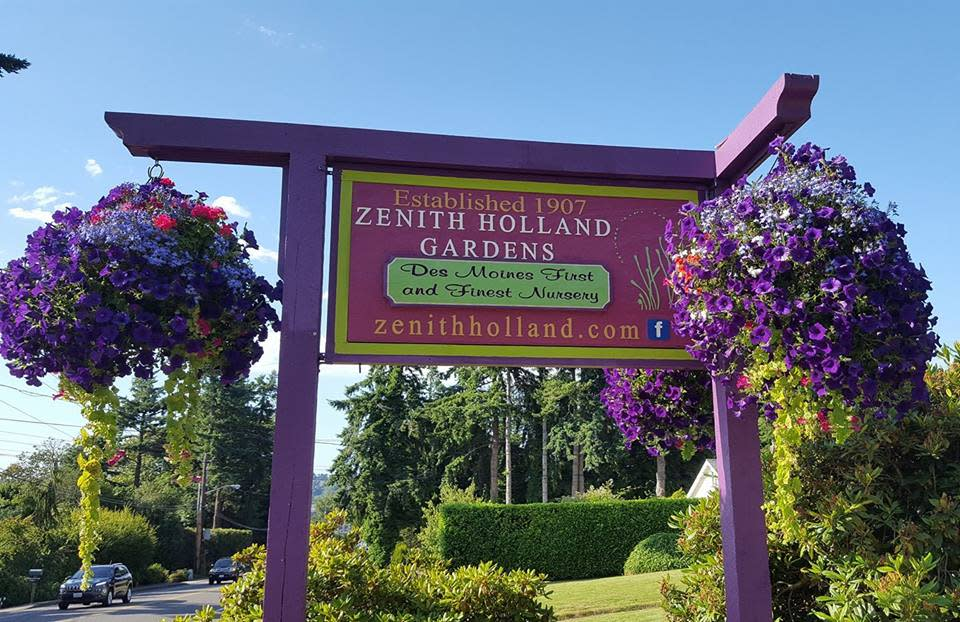 Zenith Holland Gardens Sign