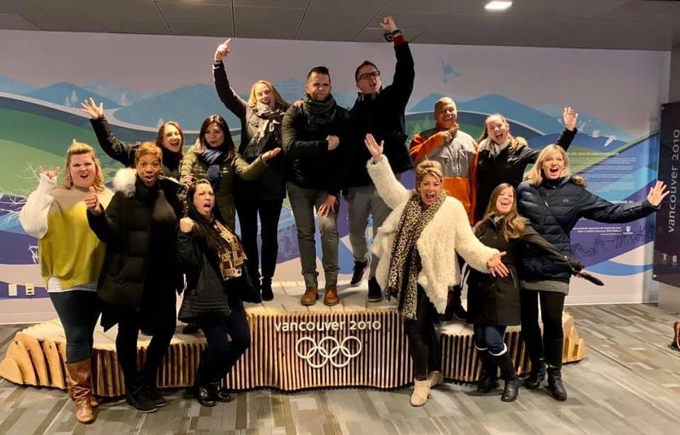 MPI Southern California board celebrating Vancouver's 2010 Olympic legacy.