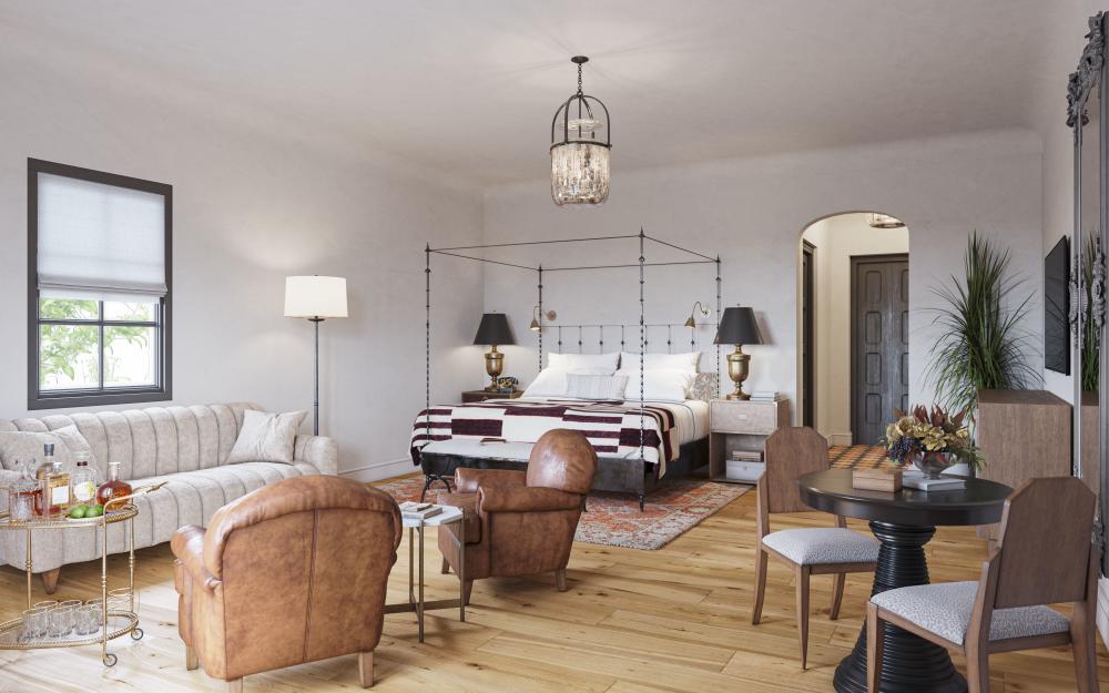 Junior Suite at the Commodore Perry Estate in austin texas
