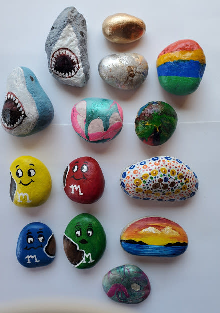 You might find these painted rocks, by Kristen Quimby, in the Stevens Point Area