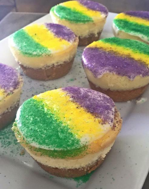 Mini king cake cheesecakes from SweetChic   Lake Charles