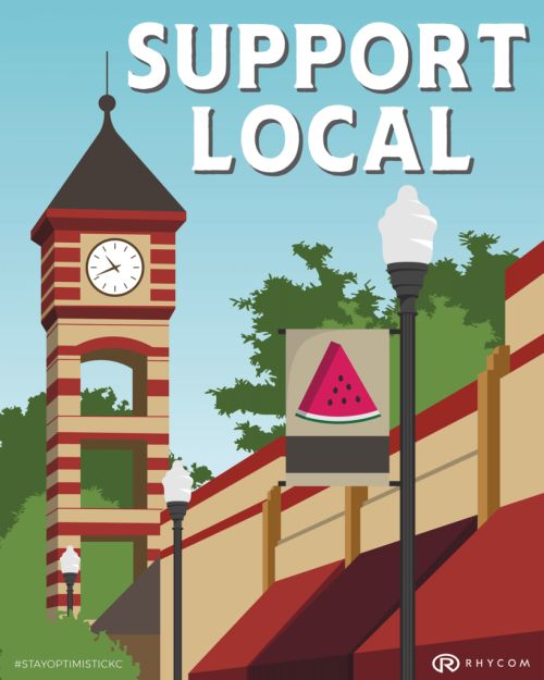 downtown op poster support local
