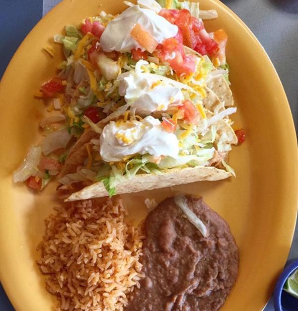 Ranchera Chicken Crispy Taco at Carmelo's Mexican Grill