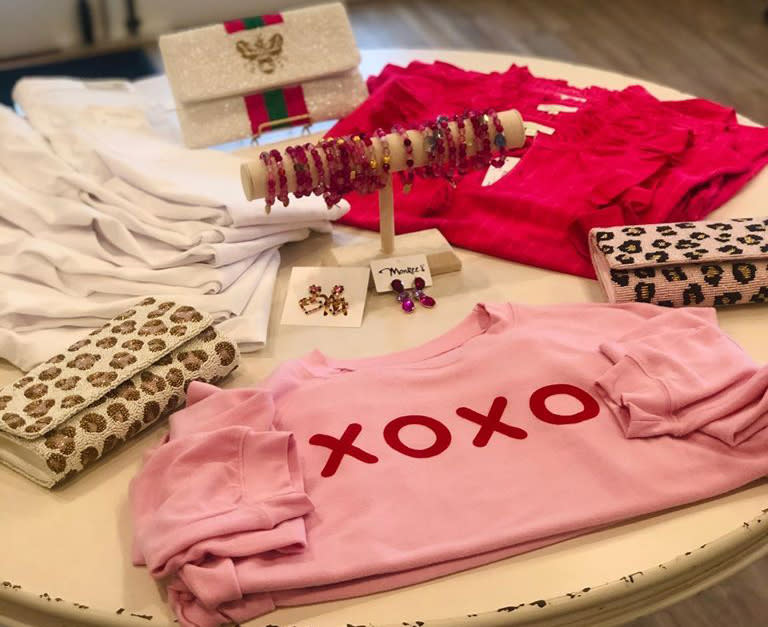 Monkee's Barefoot Landing Valentine clothing and accessories on diplay