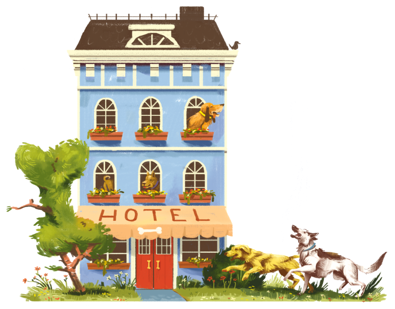 Graphic of Dog Hotel