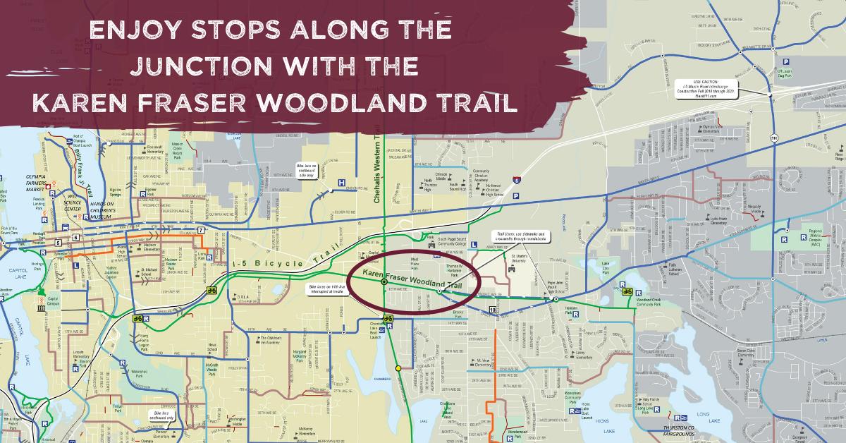 Karen Fraser Biking Trail Intersection Image