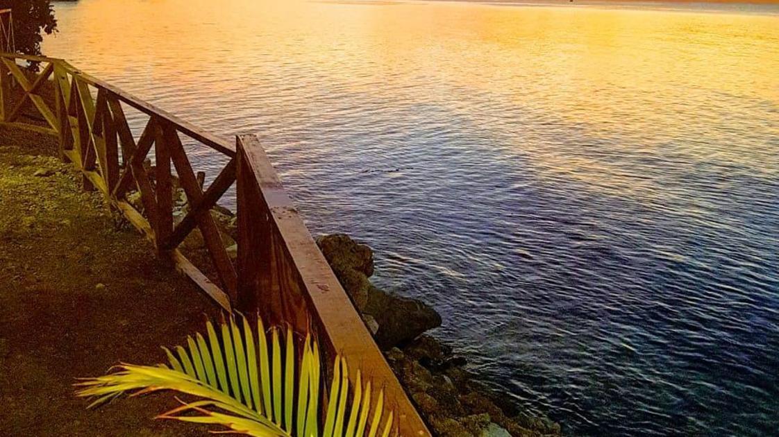 Sunset at Sky Beach, Jamaica
