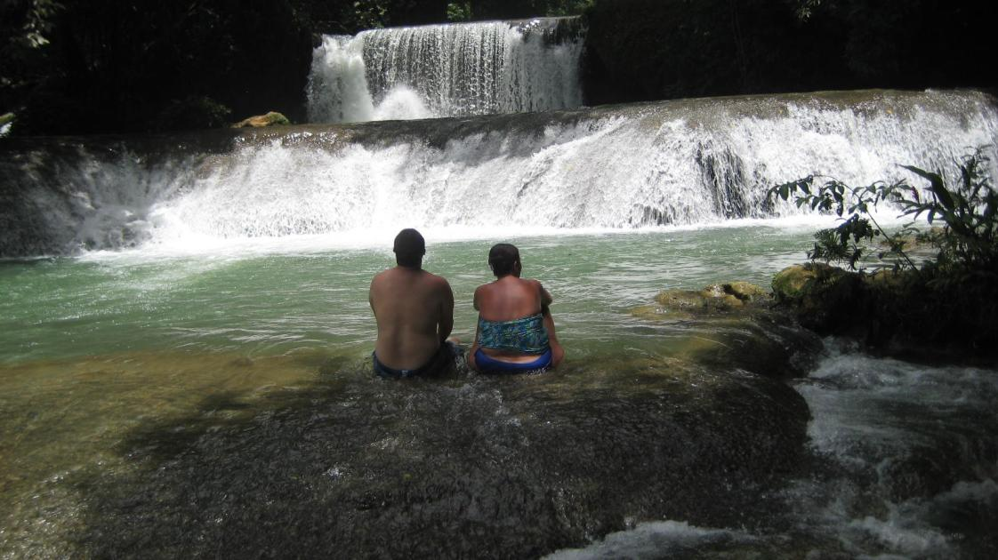 Image # 4   A Romantic Moment at YS Falls!