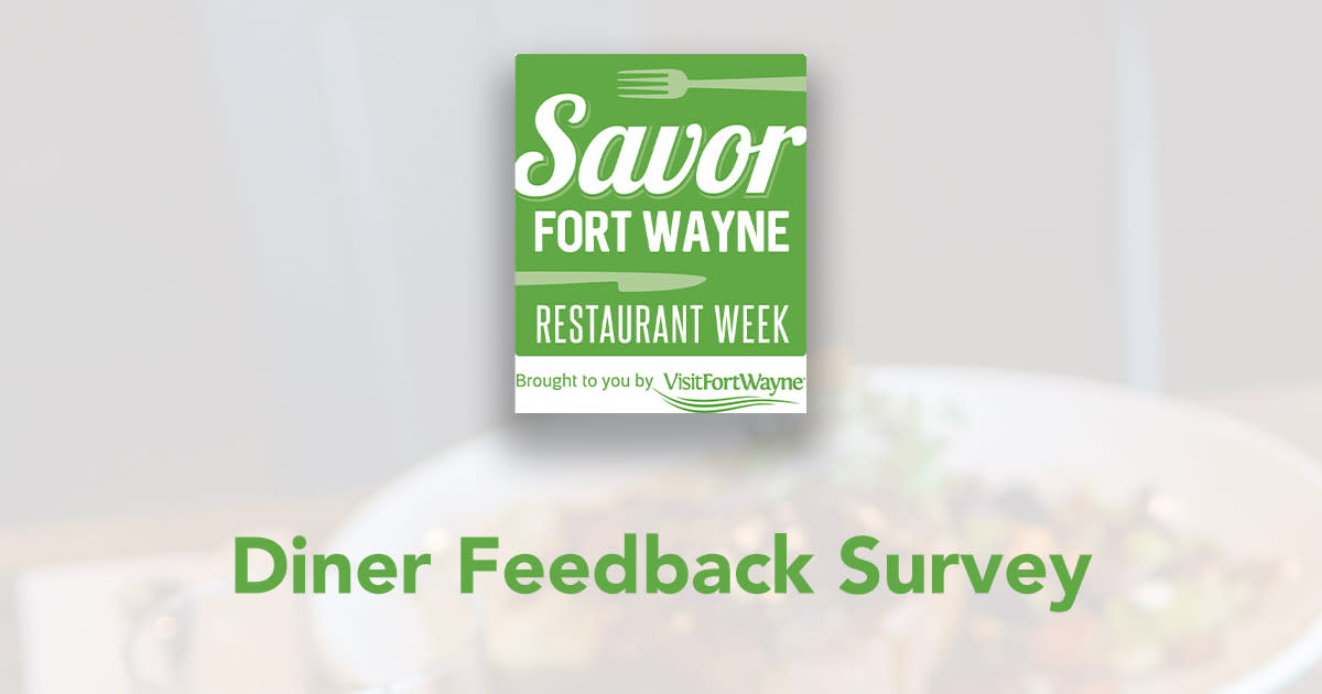 Savor Diner Feedback Survey