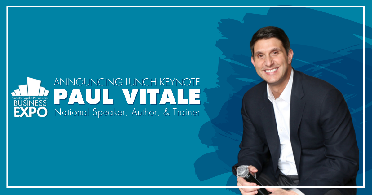 announcing lunch keynote paul vitale who is a national speaker, author and trainer
