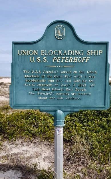 USS Peterhoff marker