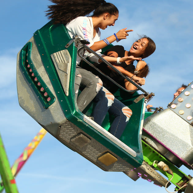 Girls on ride at The Great New York State Fair