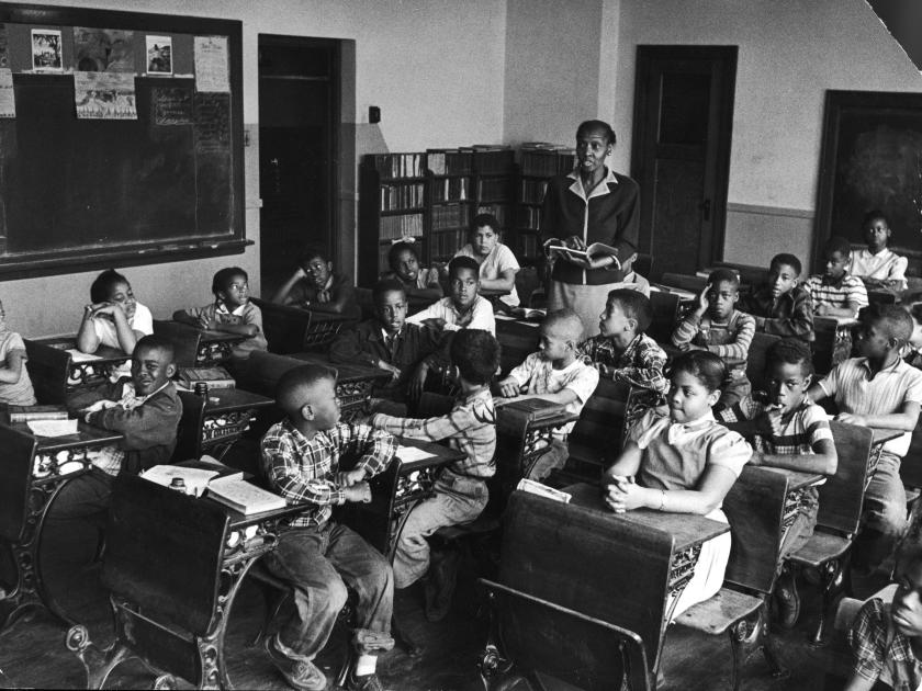 Linda Brown in classroom