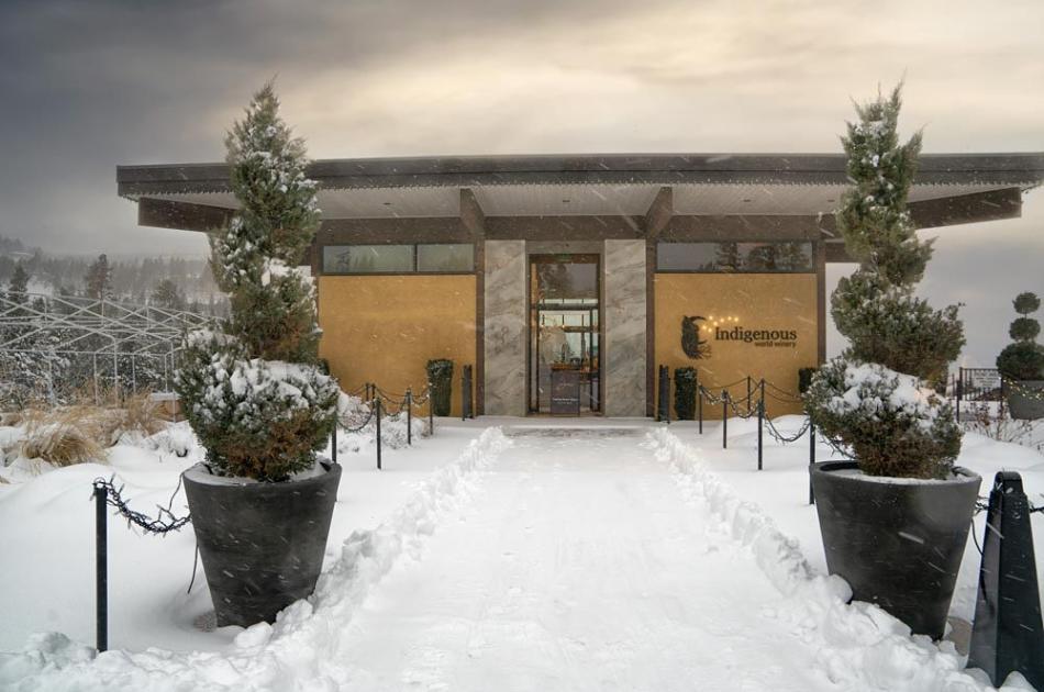 Wine Shop Entrance Winter