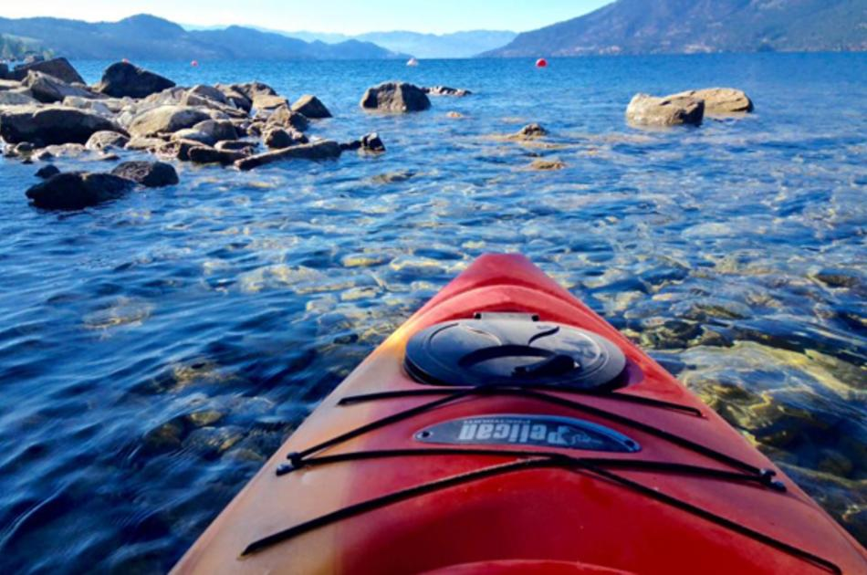 Kayaking at Safe Harbour in Lake Country